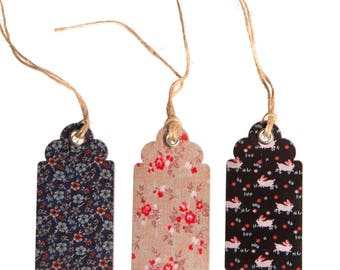 Set of 15 Petite Vintage Pattern Gift Tags (Sass & Belle)