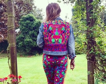 Gypsy Festival Jacket with Vintage Thai and Indian Embroideries