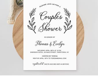 couples shower invitation template printable wedding shower invite bridal shower jack and jill