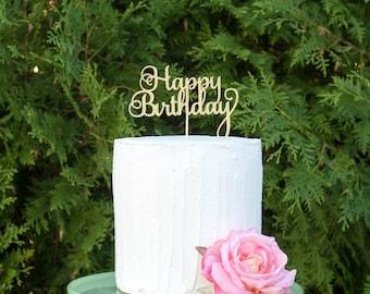 Happy Birthday cake topper, birthday cake topper, birthday decorations, party decorations, birthday party, birthday decoration, happy decor