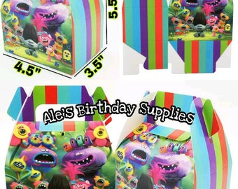 12 Pc Favor Boxes Trolls Treat Boxes Trolls Party Favors
