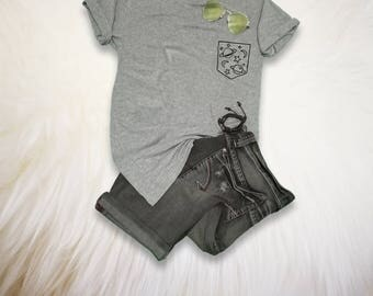Space TShirt Galaxy Top Pocket Shirt Tumblr T Shirt Cute Tees Funny Graphic Tees Womens Mens Unisex Teen Girl Boy Gifts Instagram Fashion