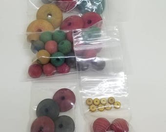 Mixed Lot of Wooden Beads Various Sizes