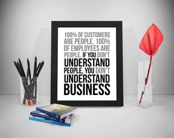Business Quotes, People Quotes, Employees Print, Office Prints, Work Quotes, Office Decor, Office Art, Quotes For Office, Office Gifts