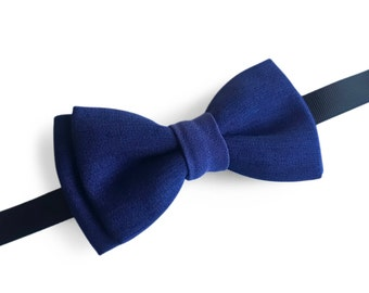 "Blue Pre Tied Bow Tie ""Compton"", Best Handmade Gift for Man, Weddings, Birthday, Valentines Day"