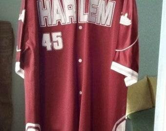 Harlem Globetrotters jersey, vintage Basketball Jersey Lenox Ave NYC t-shirt Fubu 90s hip-hop clothing, 1990s hip hop, gangsta rap, size XL