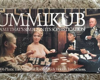 RUMMIKUB 1980 Board Game First Edition VGC Coneways Ltd Retro Vintage