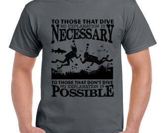 To Those That Dive Mens Funny Scuba Diving T-Shirt Sports Diver Dive Equipment 2129