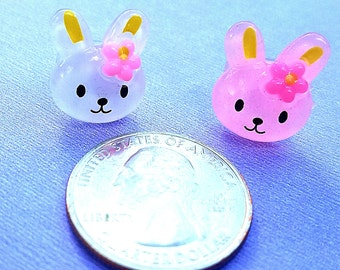 Tube Trinkets:  Adorable Translucent Bunnies!  Please select quantity 2 for a pair!