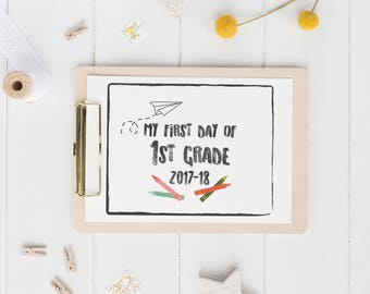 printable first day of school sign   black and white   back to school photo prop   digital download
