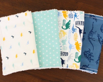The Dino Burp Cloth Bundle, burp cloth set, burp cloths, baby boy burp cloths, dinosaur nursery, dinosaur baby, baby boy, baby gift