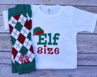 Baby Boy Clothes, Baby Boy Christmas Outfit, Elf Size Shirt, Boy Christmas Outfit, Baby First Christmas Outfit, Boy First Christmas Outfit