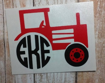 Tractor Decal/Tractor Monogram/ Monogram/Decal/ Vinyl Decal/ Country Monogram/Tractor Sticker/Yeti Cup Decal/ Farmers Decal/Sticker