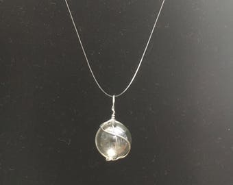 Clear Glass Marble - Pendant Necklace
