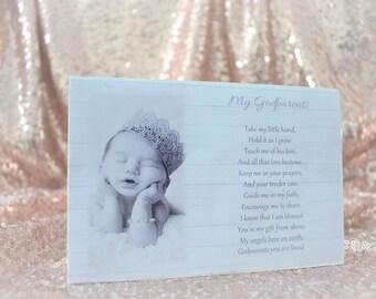 personalised godparents plaque Christening Baptism Baby s-19 godchild gift shabby chic