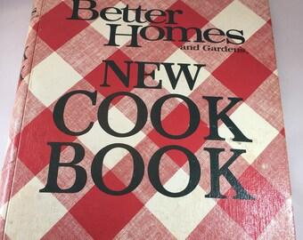 Better Homes and Gardens New Cook Book, Vintage Cookbook, 1970s Cookbook, Vintage Kitchen, Recipe Collection, Binder Cookbook