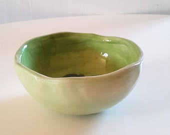 Ceramic bowl, ceramic Cup, dish ceramic fruit bowl, green, green ceramic gravy boat, pottery, gift for MOM