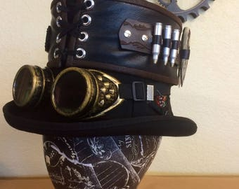 Steampunk Monster Hunter top hat band