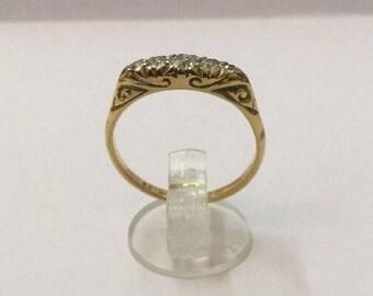 18ct Gold & 1/2ct Diamond Ring - Fully Hallmarked - Size 7 (UK O)