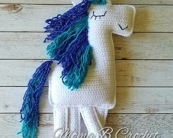 Crochet Unicorn Ragdoll, Unicorn Ragdoll, Unicorn Plushie, Stuffed Unicorn