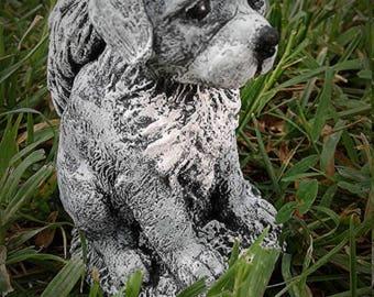 Concrete dog angel, Labrador statue, pet memorial, outdoor sculpture, garden decor, made and ready to ship