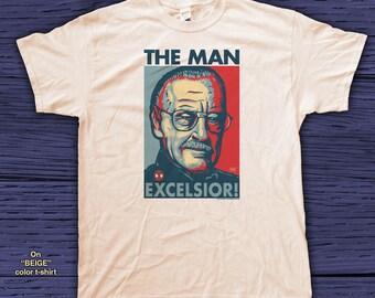 "STAN the MAN ""HOPE"" style T-Shirts - pre shrunk 100% cotton, short sleeve t-shirt - Stan Lee - Marvel Comics"