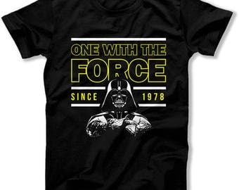 40th Birthday Shirt Movie T Shirts Geek Gifts For Him Custom Year Personalized One With The Force Since 1978 Birthday Mens Tee DAT-1377