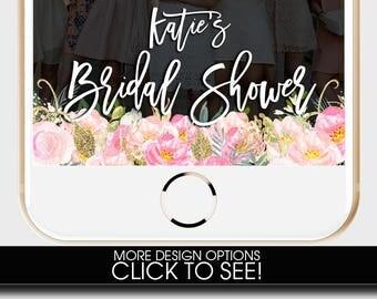 BRIDAL SHOWER, Bridal Shower SNAPCHAT Filter, Bridal Shower Snap, Blush Snapchat Filter, Floral Snapchat Filter, Wedding Snapchat Geofilter