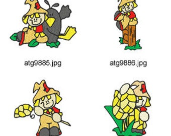 Little-Scarecrow ( 7 Machine Embroidery Designs from ATW ) XYZ17H