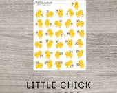 Little Chick Daily Numbers 1 to 31 - Bullet Journal - Bujo Stickers - Planner Stickers