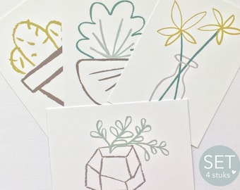Nature cards - Set of cards - nature - plants - flowers