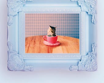 Cat for Tea POP Art Print