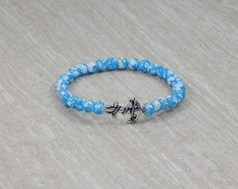 SALE! Bubbly Blue Anchor Bracelet | Gifts for Her or Him | Charitable Cause | Jewelry for Her or Him | Beachy Bracelet