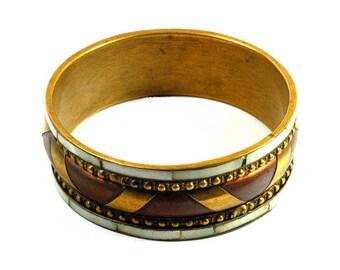 Vintage Brass Bracelet, Bracelet, Brass Bracelet, Unique Bracelet, Handmade, Gift