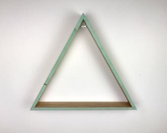 Mountain Shelves, Wood Triangle Shelves, Triangle Shelving, Triangle Shelves, Wooden Shelves, Wooden Shelving, Geometric Shelves