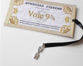 Bookmark bookmark Harry Potter train ticket Platform 9 3/4 OWL owl letter Hogwarts express Geek