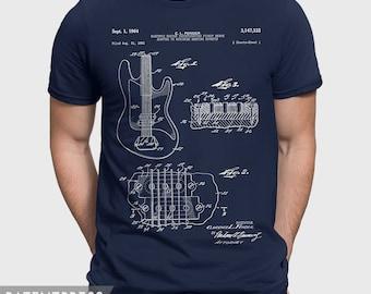Fender Guitar T-Shirt For Guitar Player, Guitar Shirt For Musician, Guitar Teacher Gift Idea For Guitarist, Gift For Guitar Husband P223