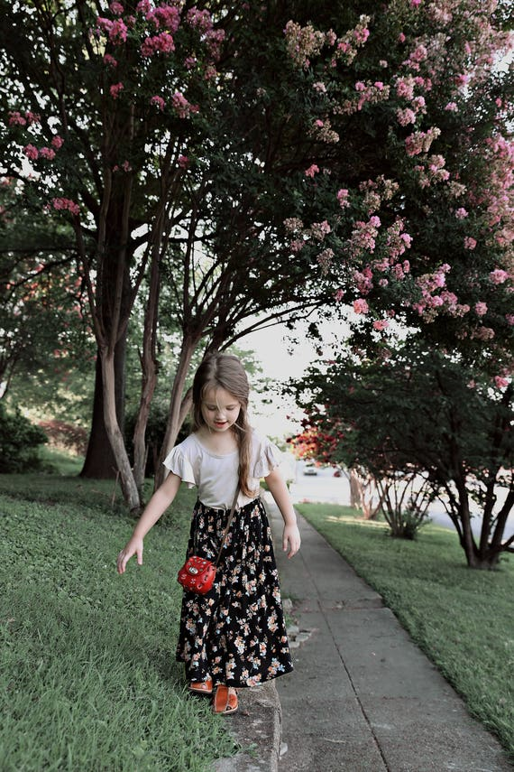 Toddler Maxi Skirt, Black Maxi Skirt, Toddler Maxi Dress, Long Skirt, Girls Maxi Dress, Floral Maxi Dress, Twirl Dress, Long Grey Skirt