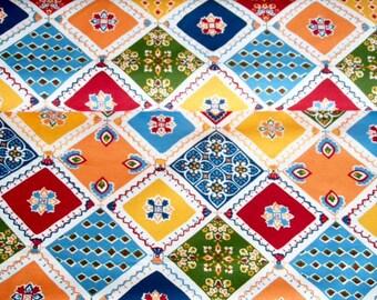 Vintage 280 / 140cm - mosaic Provencal - Patchwork