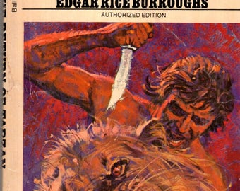 Edgar Rice Burroughs The Return of Tarzan Ballantine Paperback Science Fiction Book 1972