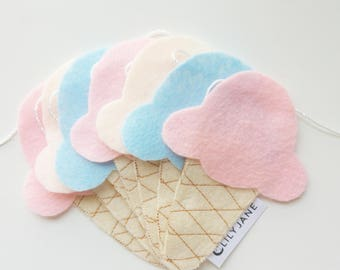 Ice Cream Garland - Felt Ice Cream - Felt Garland - Hanging Decoration - Nursery Decor - Wall decor