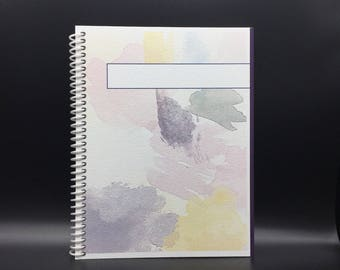 RAINY DAY Personalized  Flex-Hardcover Notebook / Journal 200 pages