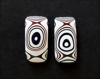 Fordite Cabochon matched pair for earrings.