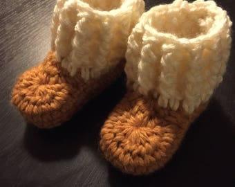 Baby winter booties - Crochet baby booties - Newborn photo prop