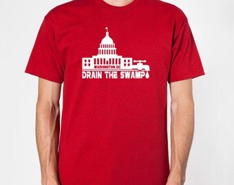 US Capitol/Drain The Swamp Patriotic Tee (Choice of 3 colors)