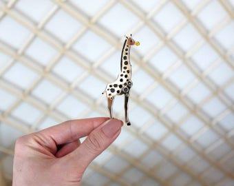 Giraffe Brooch - Laser Cut Giraffe - Acrylic Brooch Giraffe - Giraffe Pin - Giraffe animal - Plexiglas - Handmade - Barnaul