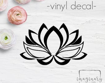 Lotus Flower...Vinyl Decal - peace - laptop sticker