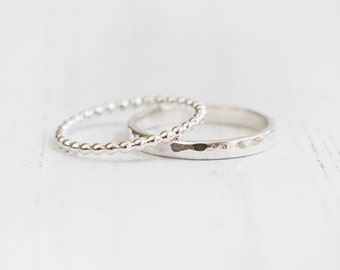 Stacking silver rings set, silver rings, stacking rings, UK sellers only