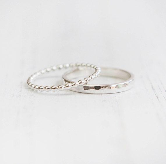 stacking silver rings set silver rings stacking rings uk