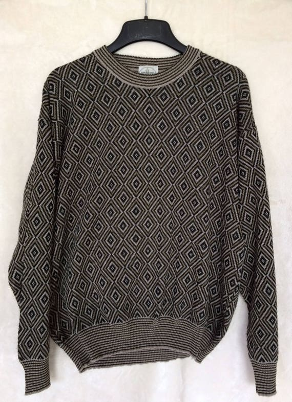 Linea Uomo Italian Men's Cotton Blend Sweater,Made In Italy.Size Large